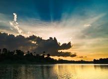 Sun-consumición del dragón Fotografía de archivo