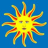 Sun content et heureux. Image libre de droits