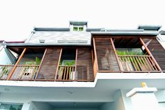 Sun Control Reunion Island Architecture. Reunion Island Domestic Architectural Style Royalty Free Stock Images