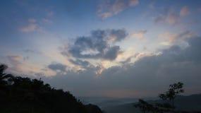 Sun coperto di nuvole Fotografie Stock Libere da Diritti