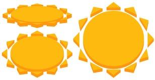 Sun with corona icon. Simple geometric clip art. Stock Image