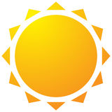 Sun with corona icon. Simple geometric clip art. Royalty free vector illustration Stock Photography