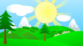 Sun in country royalty free stock photography