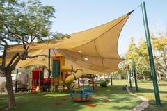 Sun covered playground