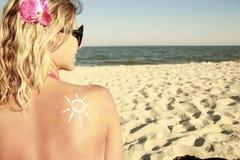 sun cream  Stock Photography