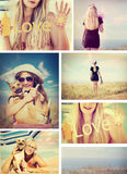 Sun cream Stock Photo