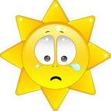 The sun is crying stock photography