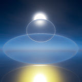 Sun Crystal Zen Peace Background Royalty Free Stock Images