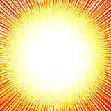 Sun of the curved thin lines Stock Photos