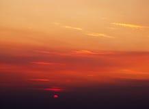 Sun-Dämmerung, die Sonnenscheibe Stockfotos