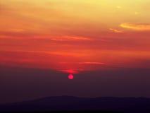 Sun-Dämmerung, die Sonnenscheibe Hintergrund Lizenzfreie Stockfotos