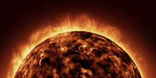 The Sun 3D Rendering Royalty Free Stock Photo