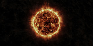 The Sun 3D Rendering Royalty Free Stock Image