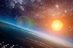 Sun dans l'espace illustration stock