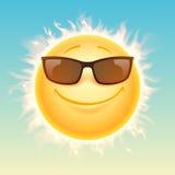 Sun dans l'illustration de lunettes de soleil Photo stock