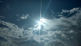 Sun dans le ciel Photos stock