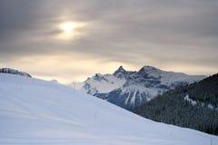 Sun dans les Alpes Image stock