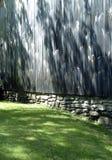 Sun Dappled Barn Wall Stock Image