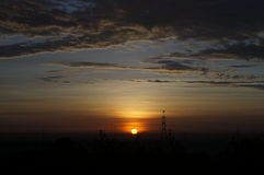 Sun at dawn. In indonesia Stock Photography