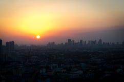 Sun de descente Image libre de droits