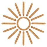 Sun de la pile des pièces de monnaie de pièces de monnaie Photos stock