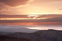 Sun de minuit Photo stock