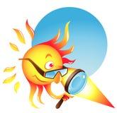 Sun de queimadura ilustração do vetor