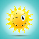 Sun de sorriso Imagem de Stock Royalty Free