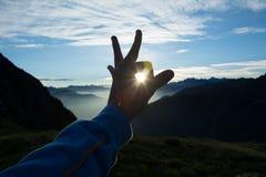 The Sun de travamento Imagens de Stock