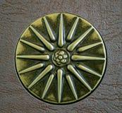 Sun de Vergina, le symbole du grec ancien Étoile avec seize rayons Photo libre de droits