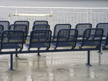 Sun Deck?. The sun deck on a ferry ... it's raining Stock Photos
