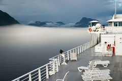 Sun Deck Cruise Ferry Boat Inside Passage Canadian Waters Stock Photography