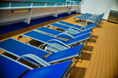 Sun deck. On a cruise ship in Belize Royalty Free Stock Photo