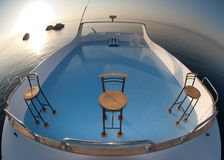 Sun deck of a nautical vessel Stock Photo