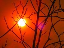 Sun del fuoco del canyon di LaTuna Fotografia Stock Libera da Diritti