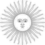 Sun del icono gráfico del inca stock de ilustración