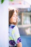 Sun della ragazza dei capelli dello zenzero del ritratto Immagine Stock Libera da Diritti