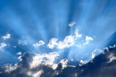 Sun derrière Photographie stock