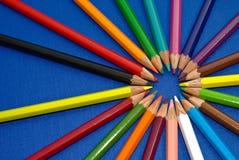Sun des crayons Photographie stock libre de droits