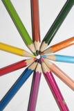 Sun des crayons de couleur Image libre de droits