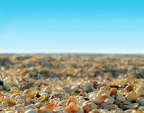 Sun descasca la playa Imagen de archivo libre de regalías