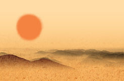 Sun and desert Stock Photography