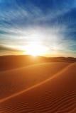 Sun in desert sand Royalty Free Stock Photography