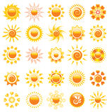Sun design elements Royalty Free Stock Images