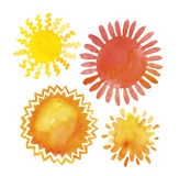 Sun design elements set Stock Photography