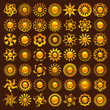 Sun Designs Royalty Free Stock Images