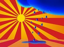 Sun después de la lluvia libre illustration