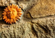 Sun. Detail of a house in the small Tuscan town of San Gennaro Royalty Free Stock Image