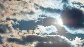 Sun detrás de las nubes Imagen de archivo libre de regalías