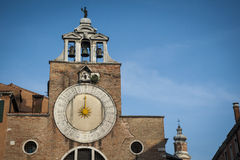 Sundial, bell tower, Venice, Italy Stock Image